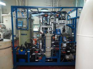 Abbildung 5: Membrandestillationsanlage der Firma MAHLE mit eingebautem Membrandestillationsmodul des Fraunhofer ISE